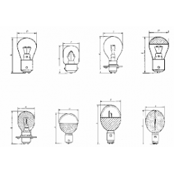 Лампа Ж 110-8 (цоколь - B15d)