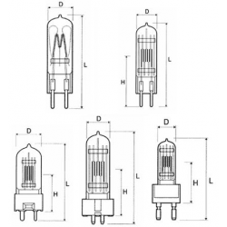 Лампа КГМ 12-40 (цоколь - G4 )