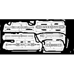 Лампа КГТ 230-1000-7 (цоколь - K10s/25)