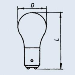 Лампа РН 110-8 (цоколь - B15d/18)