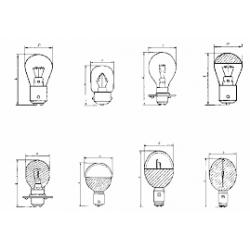 Лампа Ж 110-40 (цоколь - B15d/18)