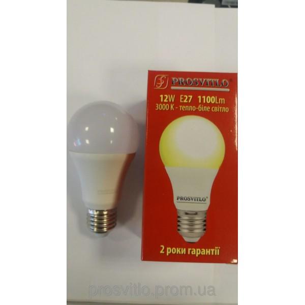 "Лампа LED ""Prosvitlo"" A60 12W 220V Е27 3000 КPS-LED-A103/Y52,03"