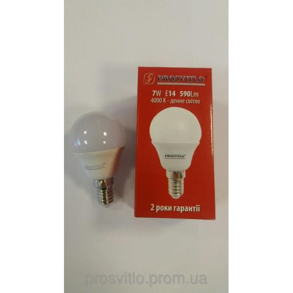 "Лампа LED ""Prosvitlo"" C37 7W 220V Е14 4000 КPS-LED-C200/W50,82"